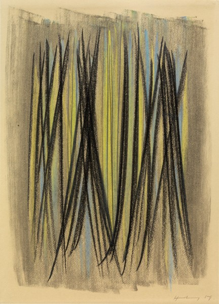 Hans Hartung : P 1959-102  (1959)  - Pastello su cartoncino - Auction N.188  - I, CONTEMPORARY ART - Casa d'aste Farsettiarte