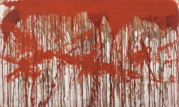 Hermann Nitsch : Senza titolo  (1987)  - Sangue e pittura su tela - Auction N.192 , CONTEMPORARY ART AND PRINTS - BUY NOW - Casa d'aste Farsettiarte