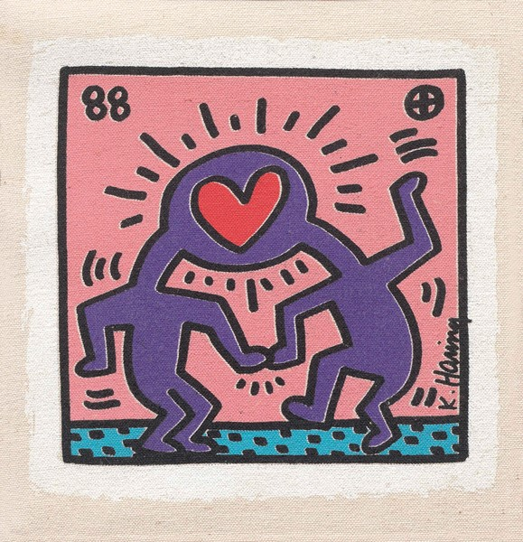 Keith Haring - Dr Winkie Invitation