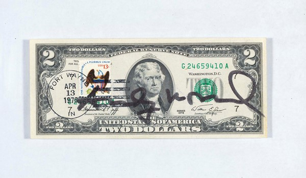 Andy Warhol - Two dollars Jefferson