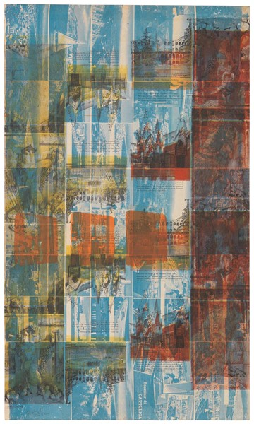 Mimmo Rotella : Senza titolo  - Tela emulsionata - Auction N.192 , CONTEMPORARY ART AND PRINTS - Casa d'aste Farsettiarte