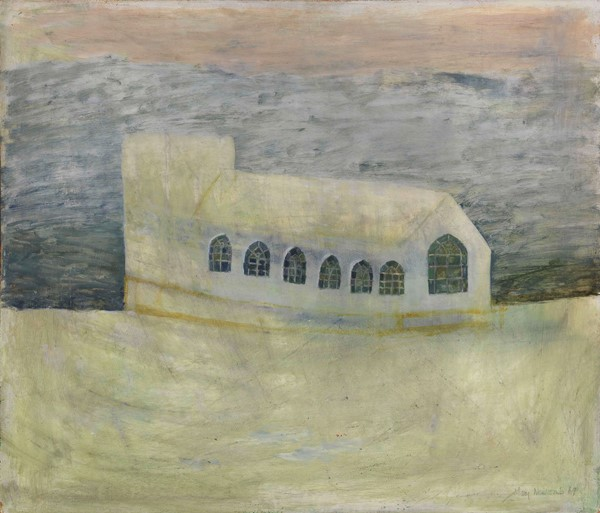 Mary Newcomb - Church on the Edge of the Valley