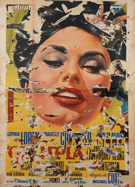 Mimmo Rotella : Olimpia  (1964-99)  - Décollage su tela - Auction N.186  - I, CONTEMPORARY ART - Casa d'aste Farsettiarte
