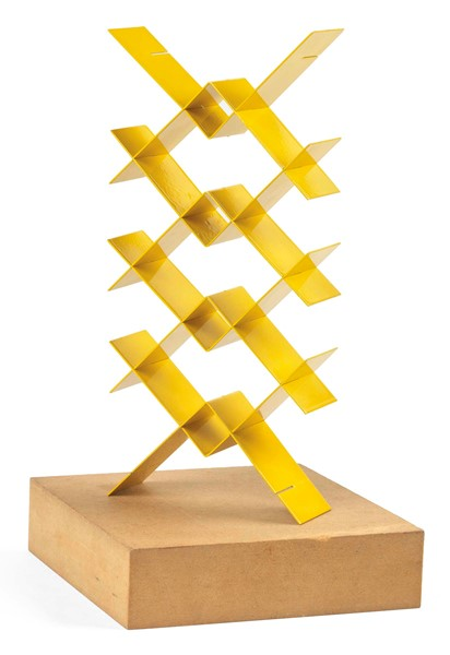 Bruno Munari : Strutture continue  (1961-89)  - Otto elementi in metallo verniciato e base in MDF, multiplo, es. 13/250 - Auction N.186  - I, CONTEMPORARY ART - Casa d'aste Farsettiarte