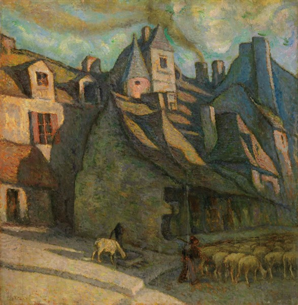 Alfredo Müller : Paesaggio francese  (1923)  - Olio su tavola - Auction N.187  - II, XIX AND XX CENTURY PAINTINGS AND SCULPTURES - Casa d'aste Farsettiarte
