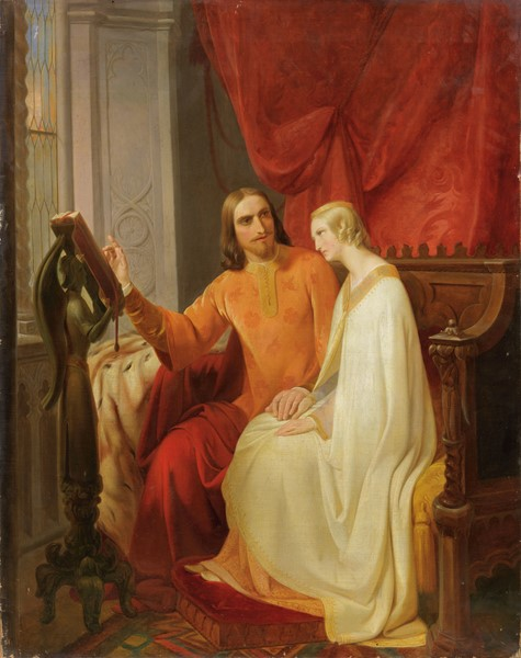 Ignoto del XIX secolo : Paolo e Francesca  - Olio su tela - Auction N.187  - II, XIX AND XX CENTURY PAINTINGS AND SCULPTURES - Casa d'aste Farsettiarte