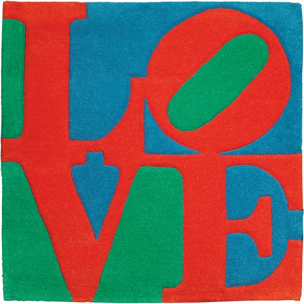 Robert Indiana : Classic Love  (2007)  - Tappeto, multiplo, es. 4769/10000 - Auction N.188  - I, CONTEMPORARY ART - Casa d'aste Farsettiarte