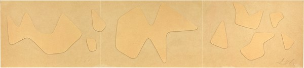 Jean Hans Arp : Senza titolo  (1955-58)  - Collage su cartone applicato su tavola - Auction N.188  - I, CONTEMPORARY ART - Casa d'aste Farsettiarte
