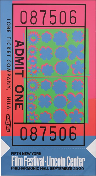 Andy Warhol - Lincoln Center Ticket