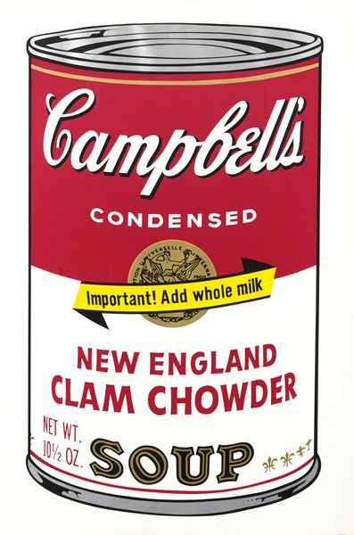 Andy Warhol - Campbell's Soup II (New England Clam Chowder)