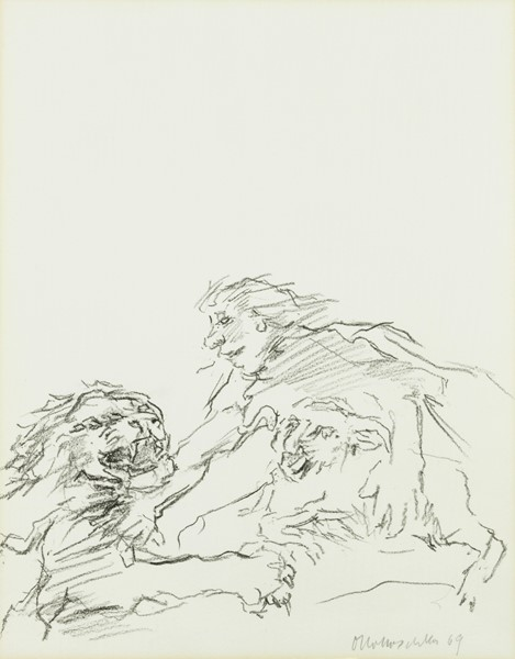 Oskar Kokoschka - Saul and David