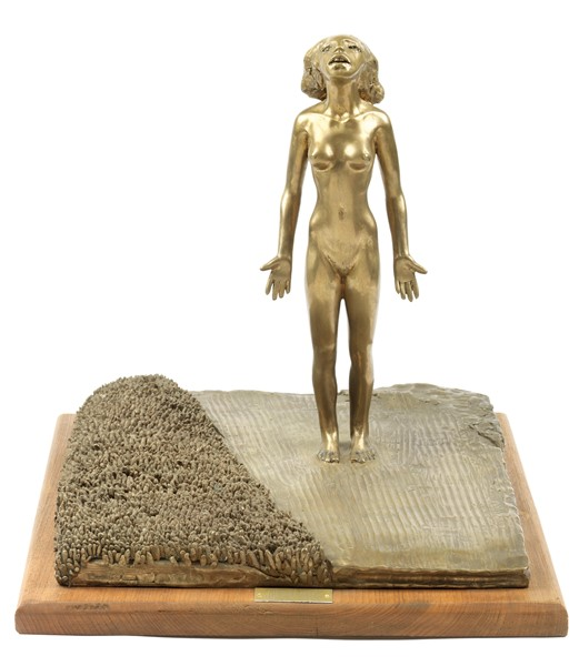 Giuliano Vangi : Donna nel sorgo  (2000)  - Scultura in bronzo, es. unico - Auction N.190  - I, CONTEMPORARY ART - Casa d'aste Farsettiarte