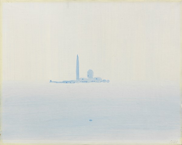 Virgilio Guidi : Venezia  (1967)  - Olio su tela - Auction N.190  - I, CONTEMPORARY ART - Casa d'aste Farsettiarte