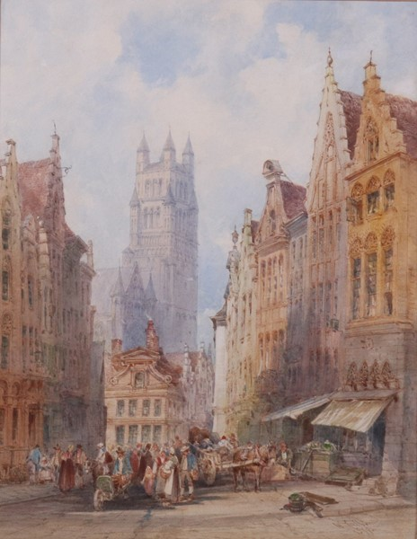 William Callow - La Chiesa di San Salvatore a Bruges