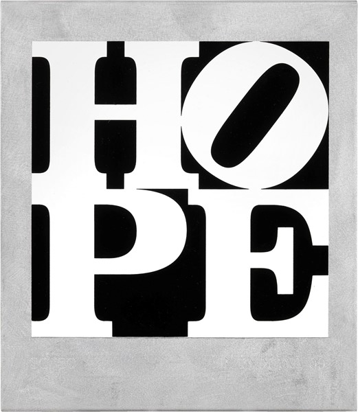 Robert Indiana - Metal Hope Book