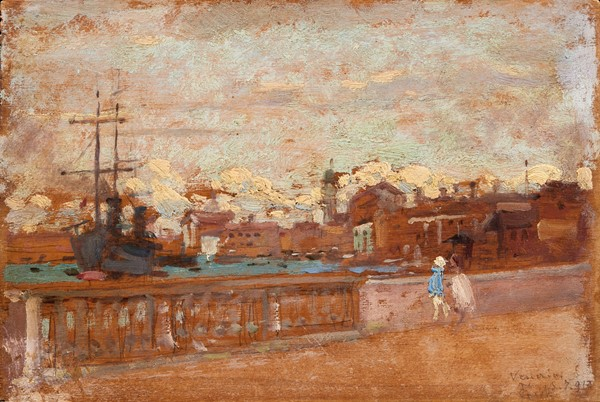 Francesco Gioli : Venezia  (1910)  - Olio su tavoletta - Auction N.194 , XIX AND XX CENTURY PAINTINGS, DRAWINGS AND SCULPTURES - BUY NOW - Casa d'aste  [..]