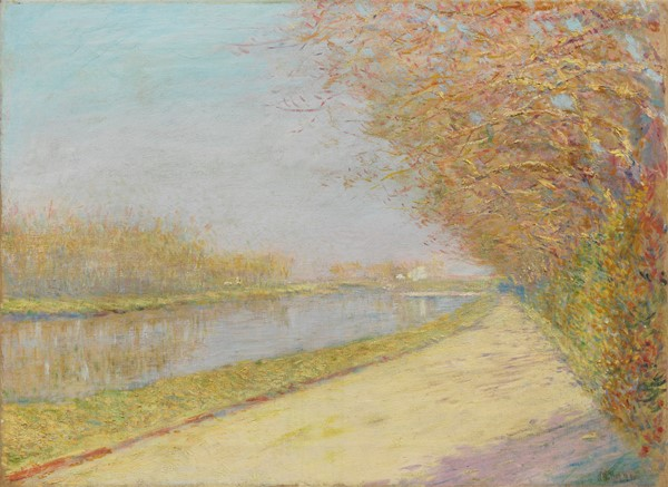 Alfredo Müller : L'Arno alle Cascine (mattino d'estate)  (1891)  - Olio su tela - Auction N.198  - II, XIX and XX century Paintings and Sculptures - Casa d'aste Farsettiarte