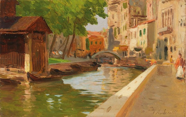 Federico Andreotti : Venezia  (1899)  - Olio su tavoletta - Auction N.198  - II, XIX and XX century Paintings and Sculptures - Casa d'aste Farsettiarte