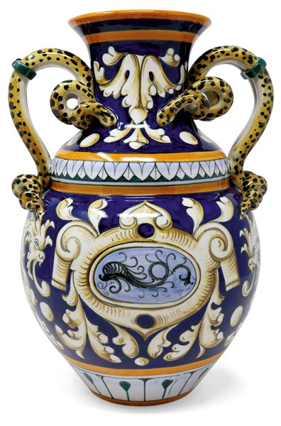 Vaso in ceramica policroma  (XX secolo.)  - Auction N.197 , A COLLECTION OF TUSCAN PORCELAIN - Casa d'aste Farsettiarte