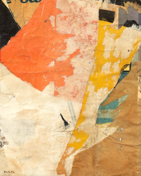 Mimmo Rotella : Senza titolo  (1958)  - Décollage - Auction N.195  - II, MODERN AND CONTEMPORARY ART PART II - Casa d'aste Farsettiarte