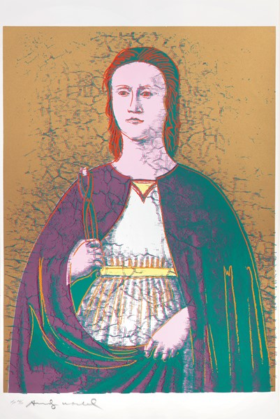 Andy Warhol : Sant'Apollonia  (1984)  - Screenprint su carta Essex Offset Kid, es. TP 66/80 - Auction N.195  - I, MODERN AND CONTEMPORARY ART - Casa d'aste  [..]