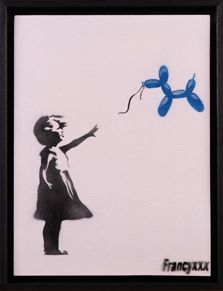 Francyxxx - Banksy Girl with Koons Balloon