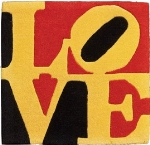 Robert Indiana - Liebe Love - Tappeto, multiplo, es. 383/999 - cm. 60x62